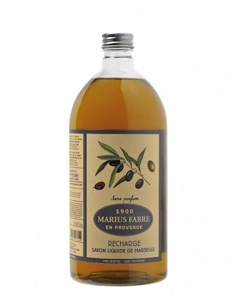 Du savon de Marseille liquide Marius Fabre sans parfum